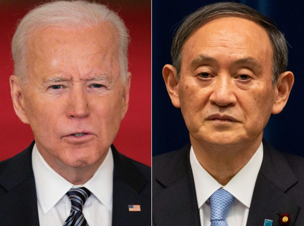 US President Joe Biden will welcome Japanese Prime Minister Yoshihide Suga for his first foreign summit