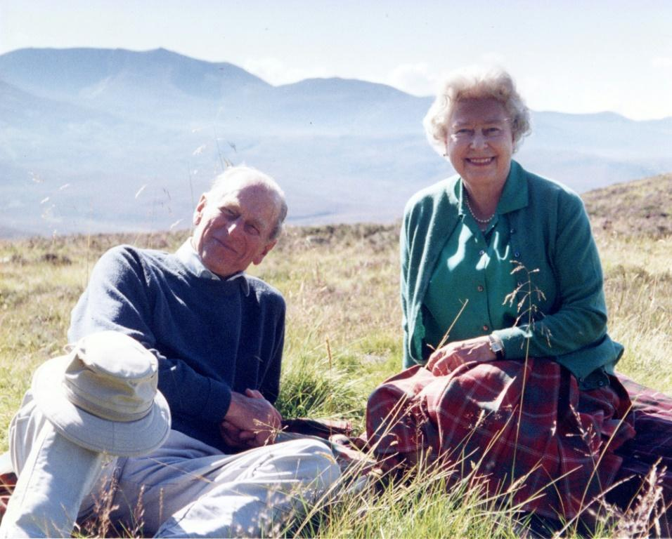 The Queen released a personal photograph of herself with Prince Philip, both looking relaxed and smiling in Scotland in 2003