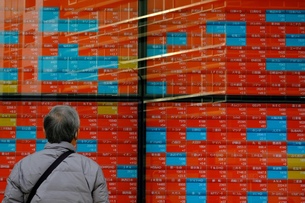 The Nikkei was down nearly two percent heading into lunch after investors took in calls for new states of emergency in the Osaka region and possibly Tokyo
