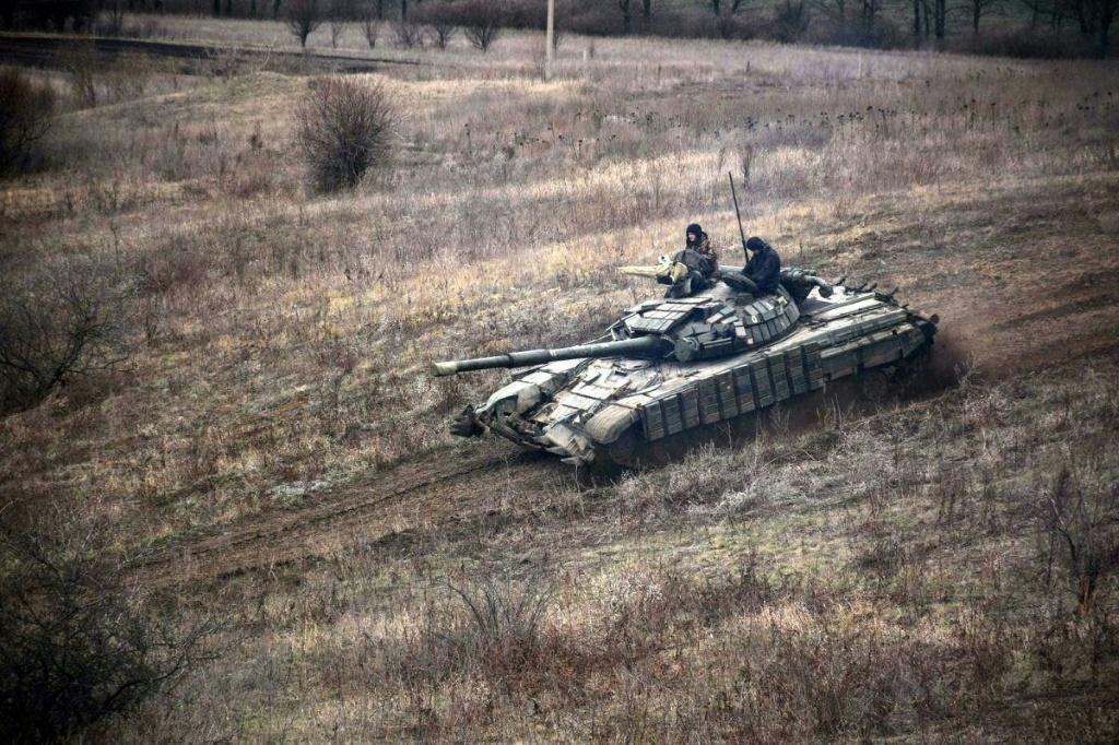 Ukraine fears that the Kremlin, widely regarded as the military and political godfather of pro-Russian separatists in the eastern region of Donbass (Ukrainian tank drills pictured there on April 18, 2021), is looking for a pretext to attack