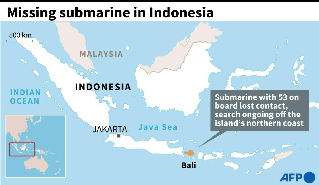 Time Running Out For 53 Crew On Missing Indonesian Submarine