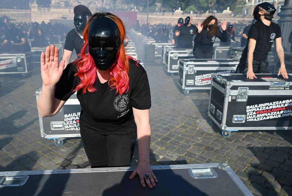 Street protests from groups like entertainment workers have put pressure on the Italian government to reopen