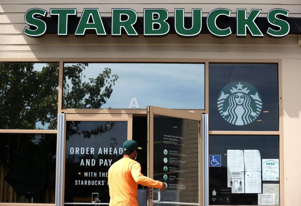 Starbucks posted a doubling of quarterly profits on a strong recovery in the Americas