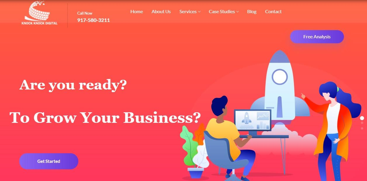 Knock Knock Digital SEO process involves carefully discerning the client's business and developing a customized marketing strategy specific to the client's needs