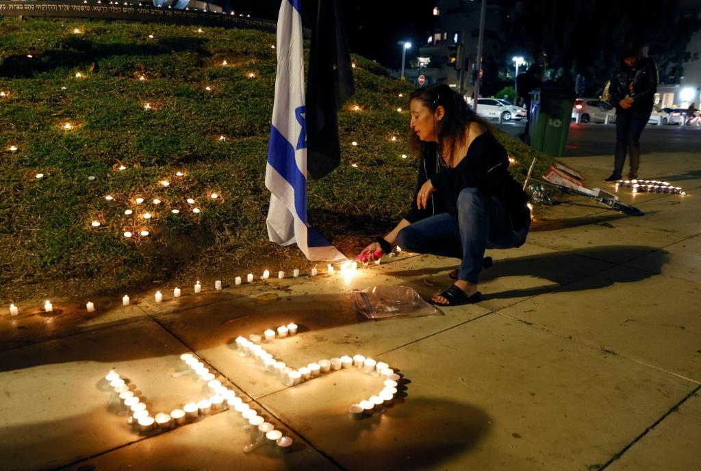 People in Tel Aviv on Saturday held a vigil for those killed in the stampede