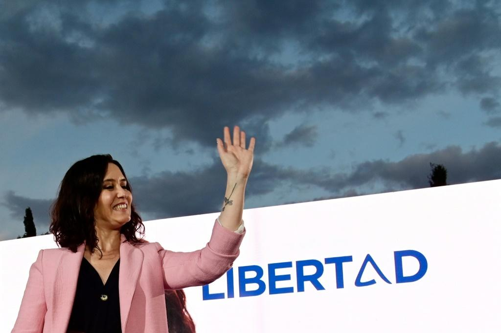 Diaz Ayuso has campaigned using the slogan 'Freedom'