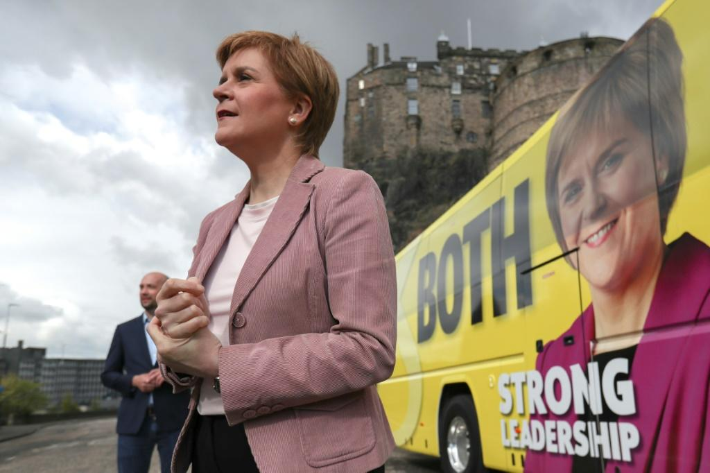 Sturgeon hopes for a majority in the devolved parliament in Edinburgh to back her plan for a second referendum by the end of 2023