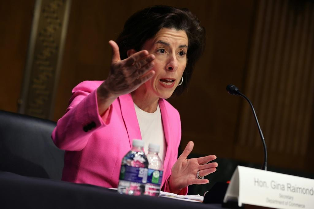 Commerce Secretary Gina Raimondo said the United States must onshore its supply chain, particularly when it comes to semiconductors and other industrial components