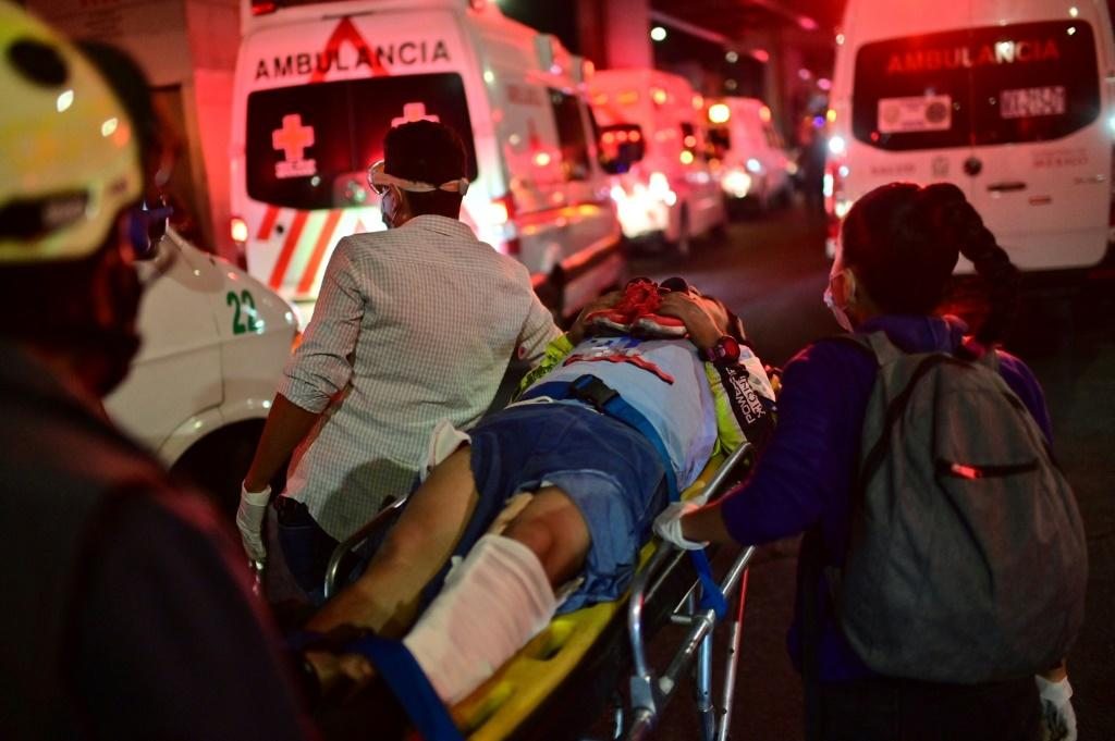 Dozens of people injured in the accident were rushed to hospitals around Mexico City