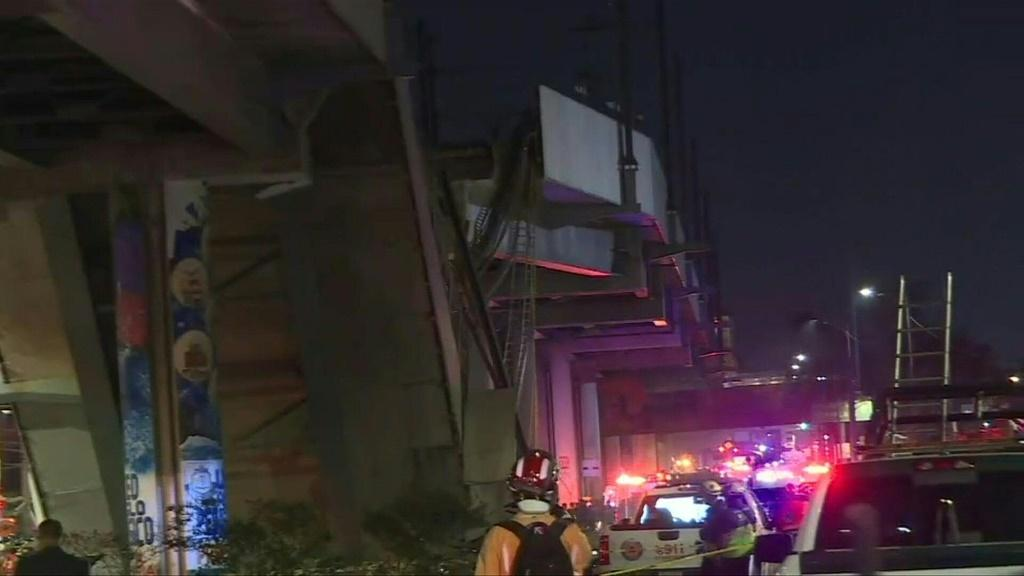 IMAGES: At least 15 people were killed and dozens injured when an elevated metro line collapsed in the Mexican capital on Monday as a train was passing.