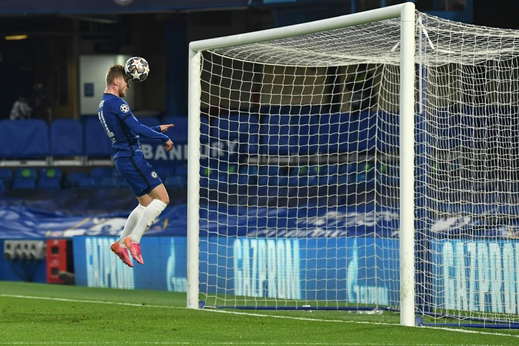 Headed in the right direction: Timo Werner ended his goal drought to send Chelsea into the Champions League final