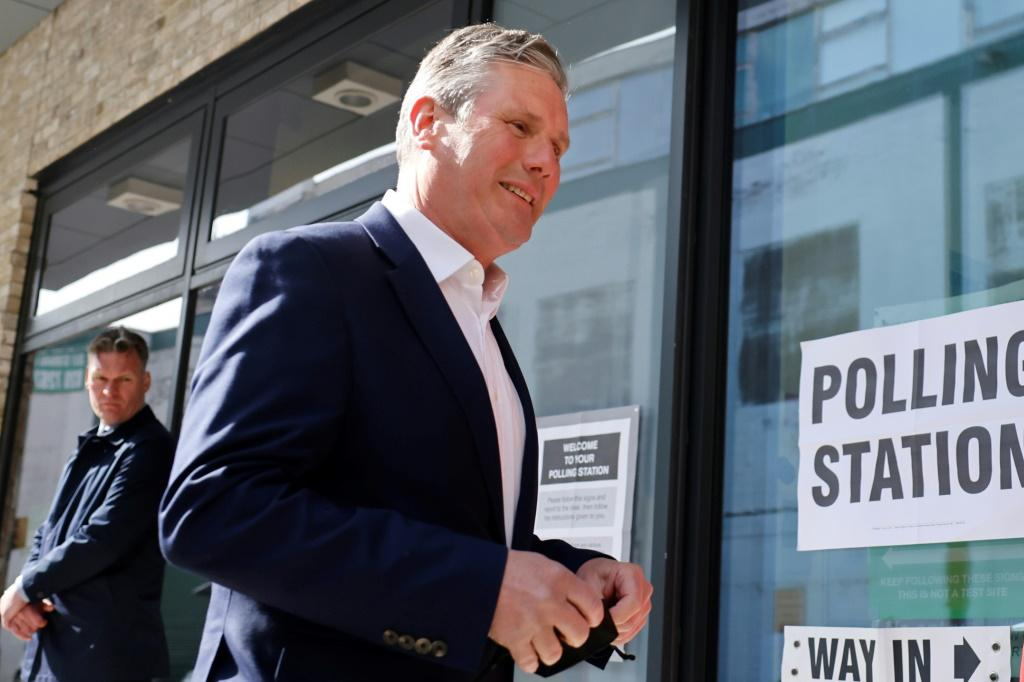 Opposition Labour party leader Keir Starmer has played down electoral expectations