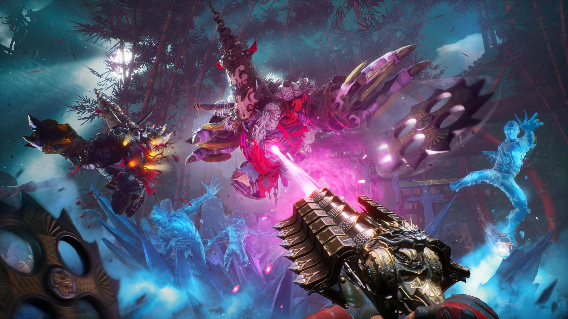 Shadow Warrior 3 innovates on the series' formula by adding new weapons and traversal mechanics