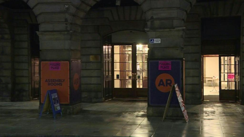 A polling station in central Edinburgh closes at 10pm after a day of voting in the first regional elections since Brexit and the coronavirus crisis, after calls in Scotland for a new independence referendum that could reshape the country.