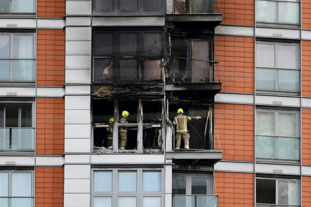 Firefighters brought the blaze in east London under control