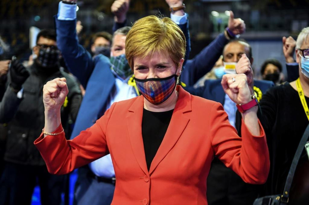 Sturgeon's SNP is heading for a fourth consecutive term in power but would need 65 seats to claim a majority