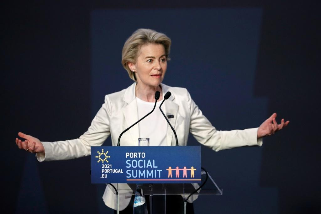 """Ursula von der Leyen said waiving patents """"will not bring a single dose of vaccine in the short- and medium-term"""