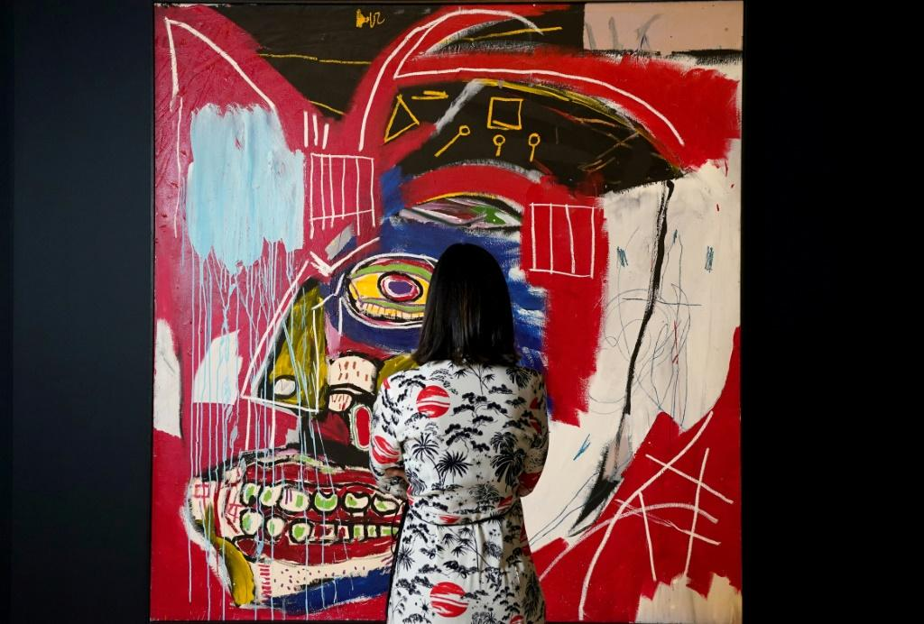 """Christie's is expected to sell """"In This Case"""" by Jean-Michel Basquiat for around $50 million"""