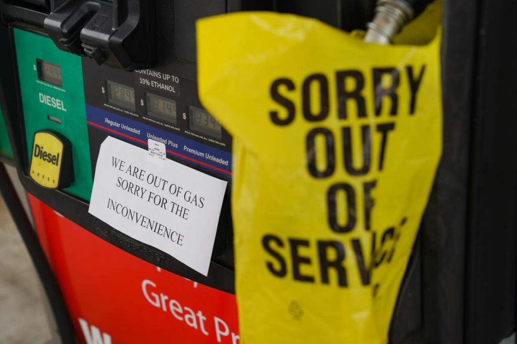 A gas station ran out of fuel in Smyrna, Georgia, one of several incidences of shortages after a cyberattack shut down a key fuel pipeline