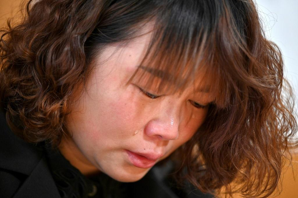 Lihong Wei has been left unsure how she can support her elderly parents and two children since her husband Xiaojun Chen was killed after colliding with a bus while delivering food
