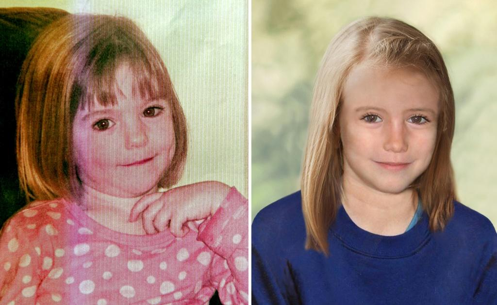 Madeleine McCann is pictured at the age of three (left) and a computer generated image shows what she could have looked like at age nine