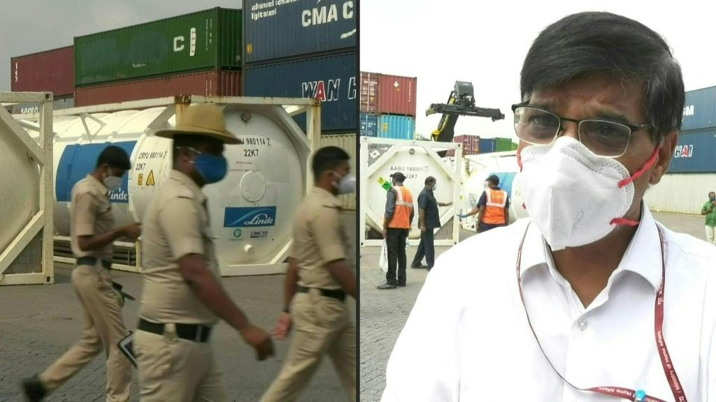 Medical oxygen supplies arrive in India's Bangalore