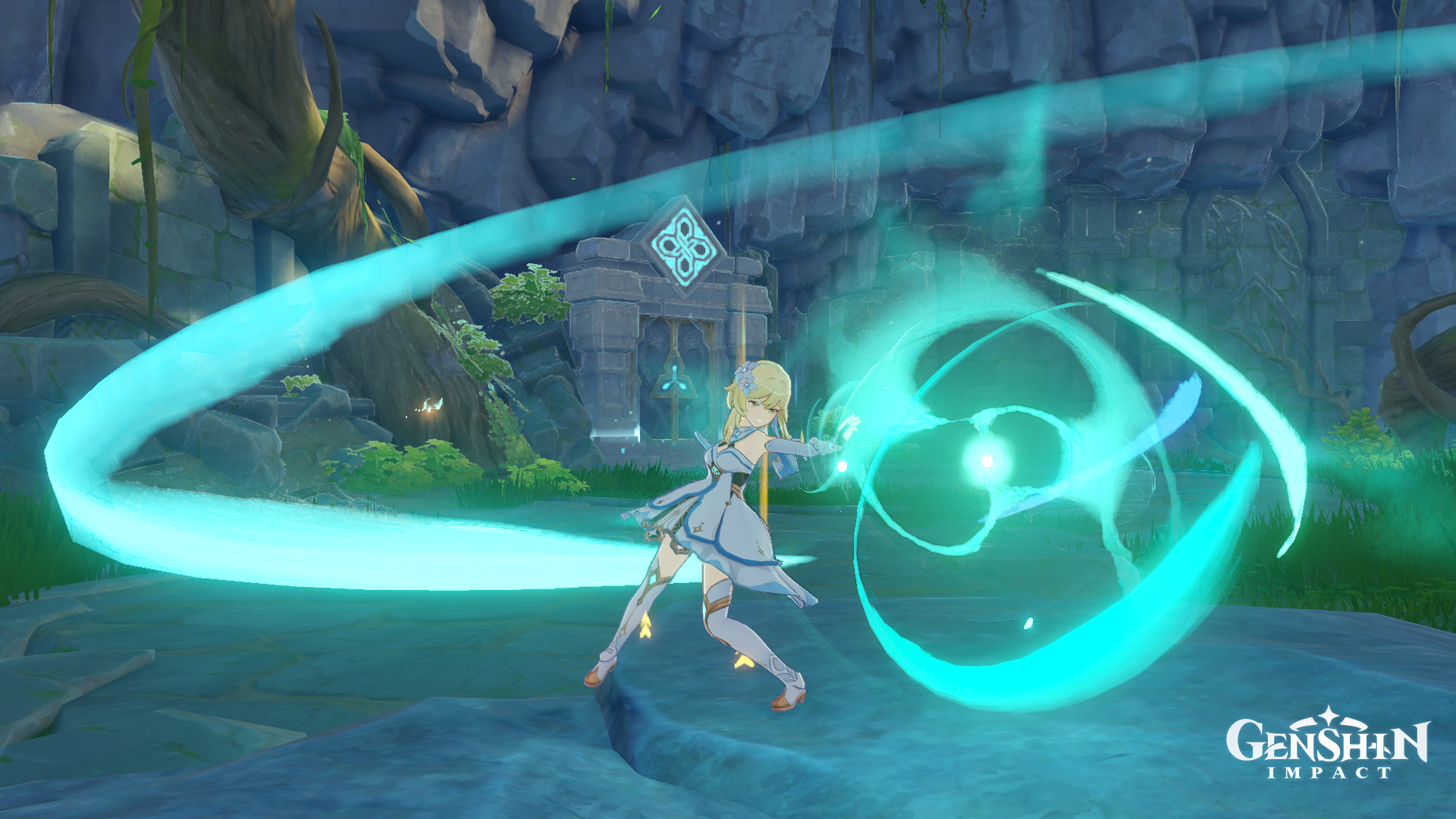 Genshin Impact - Anemo Traveler's Elemental Skill can be held down for stronger damage