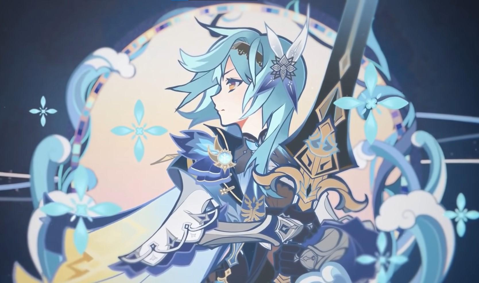 Eula, the Spindrift Knight in Genshin Impact