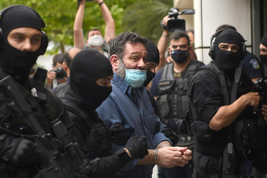 MEP Ioannis Lagos arrives at an Athens court