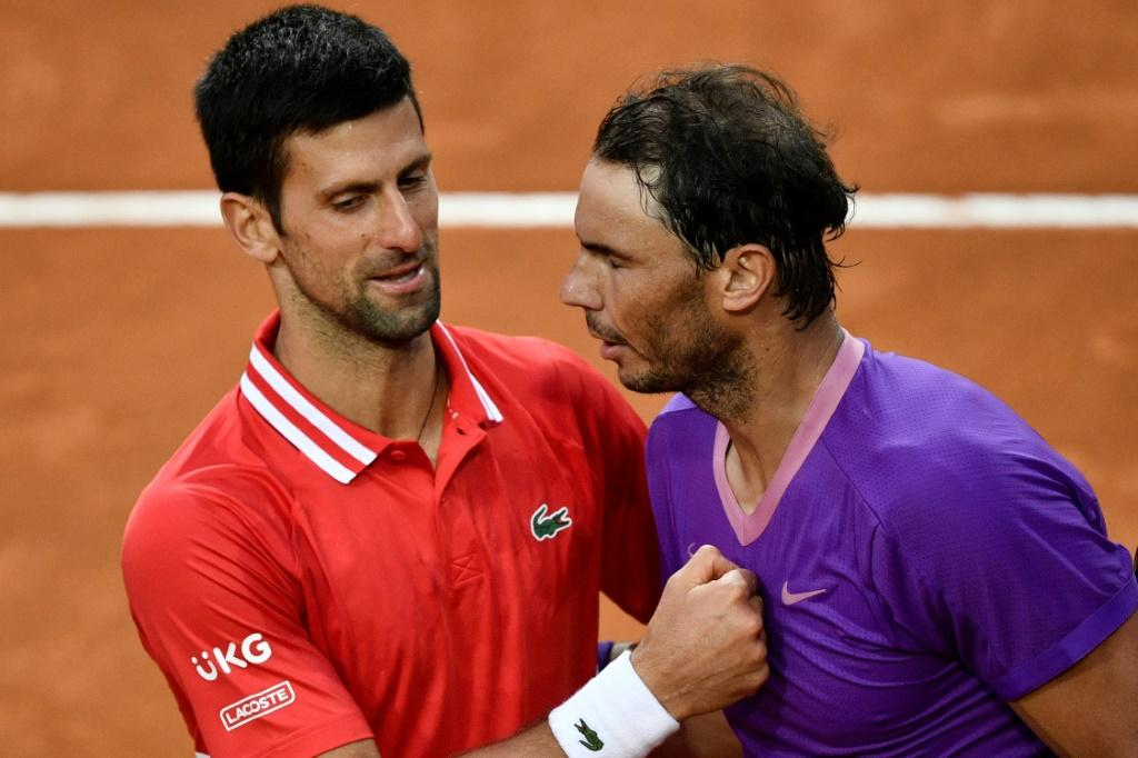 Rafael Nadal (R) and Novak Djokovic (L) played each other for the 57th time.