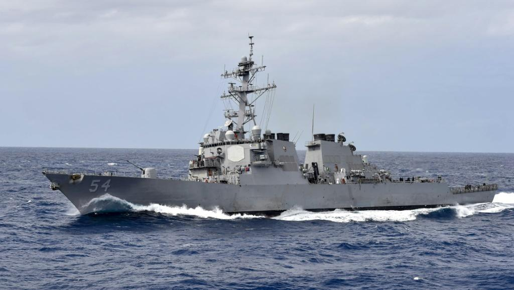 China accused the United States of 'creating risks' in the South China Sea after the USS Curtis Wilbur (pictured here in 2018) sailed through disputed waters