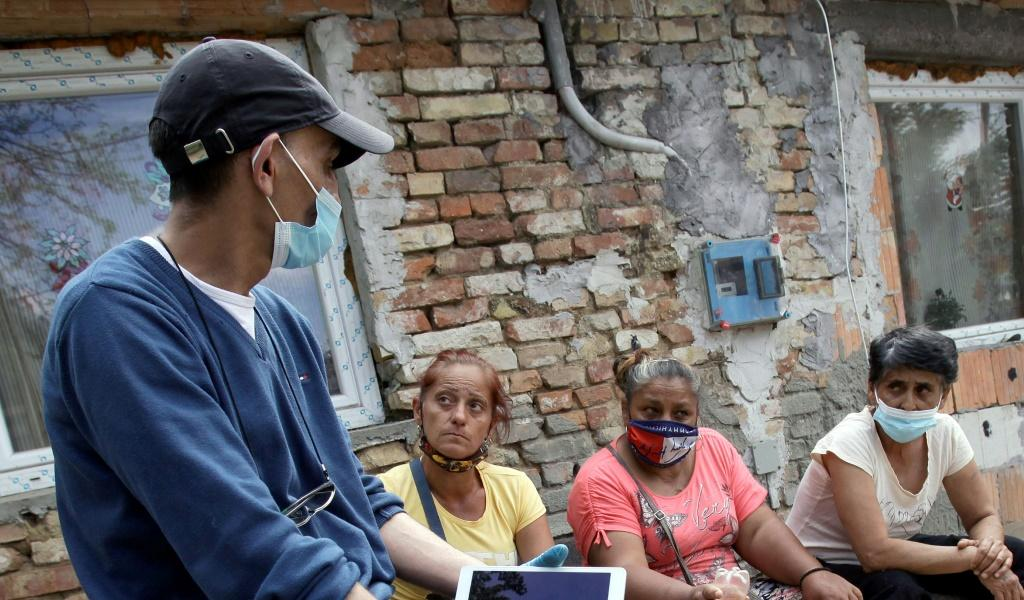 """No one else is looking after us, so we have to do it ourselves,"""" said Jozsef Radics, who is helping Roma get vaccines"""