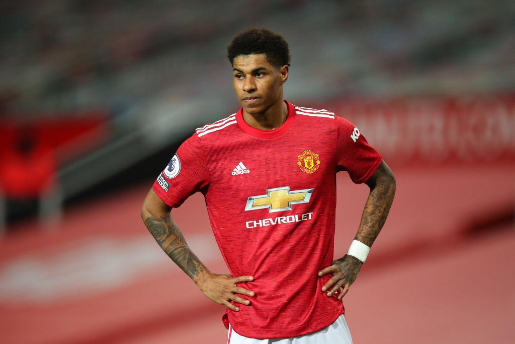 Marcus Rashford of Manchester United during the Premier League match between Manchester United and Newcastle United