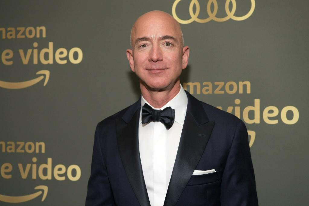 Amazon CEO Jeff Bezos, who has long had ambitions in the entertainment world, is seen at Prime Video's Golden Globe Awards After Party in 2019