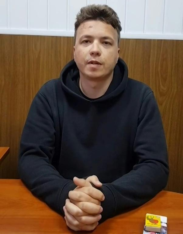Opposition journalist Roman Protasevich was arrested after the diverted plane landed in Minsk