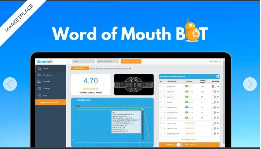 Word of Mouth BOT lets you place reviews where they matter most
