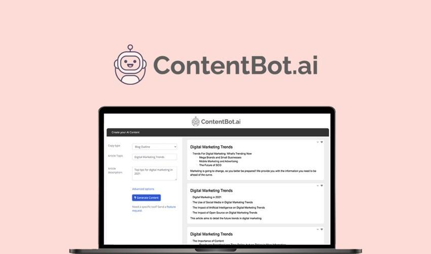 Appsumo's special offer for ContentBot