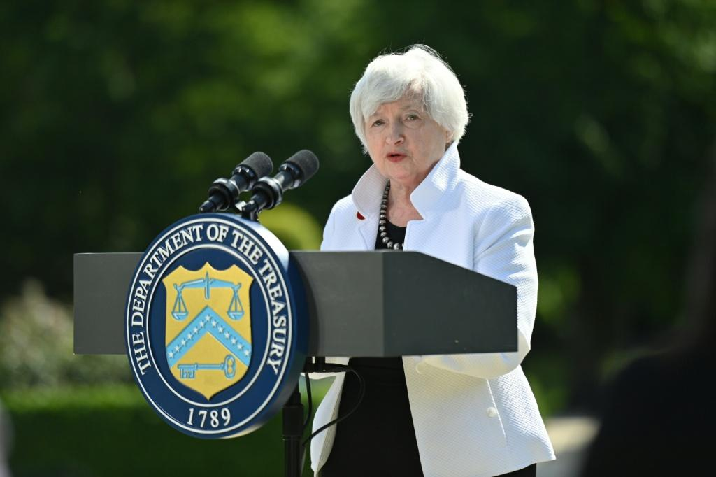US Treasury Secretary Janet Yellen, pictured in London on June 5, 2021, has supported efforts to provide debt relief to poor countries