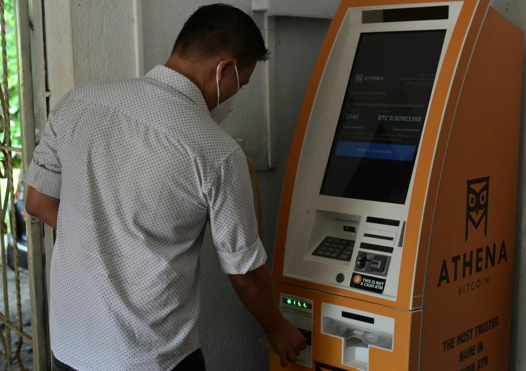 El Zonte boasts a bitcoin teller machine, the country's only one, where people deposit cash US dollars -- El Salvador's official currency -- into a personal bitcoin 'wallet'