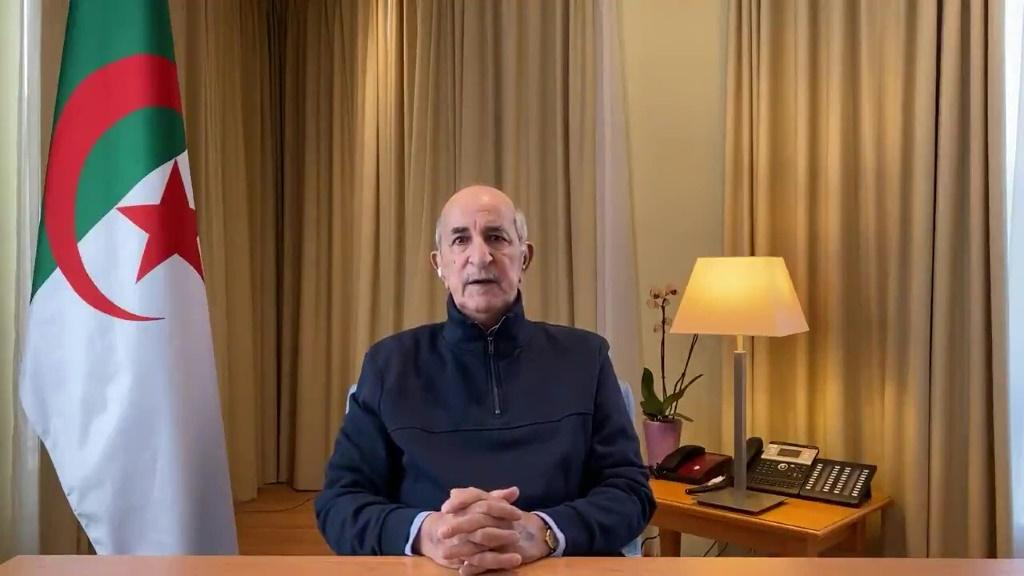 President Abdelmadjid Tebboune, pictured here in a photo posted on his personal Twitter account on December 13, 2020, insists he has responded to the Hirak's main demands