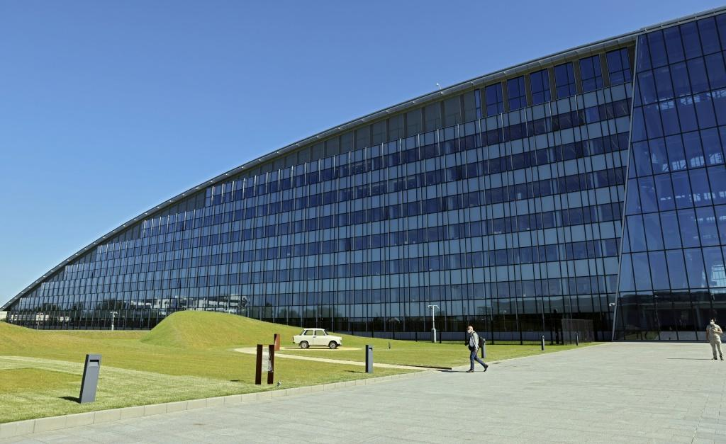NATO headquarters on the eve of the NATO summit, in Brussels
