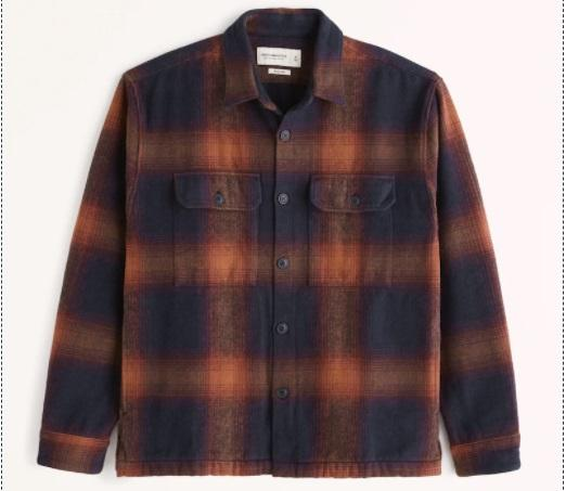Abercrombie & Fitch Relaxed Heavy Weight Flanel
