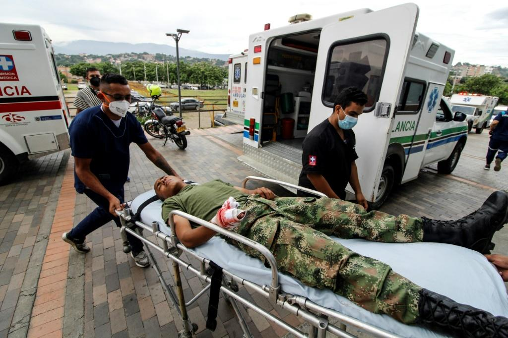 Colombian authorities said ELN guerillas were behind a car bomb blast at a military base in the city of Cucuta, near the border with Venezuela