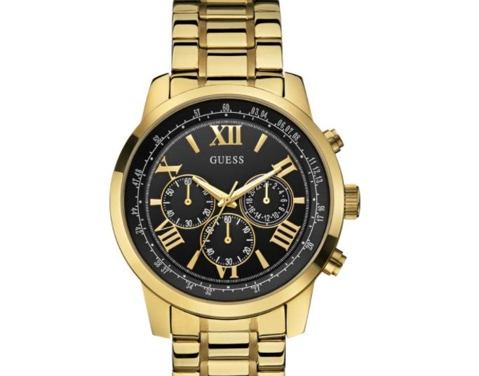 Guess Gold-Plated Chronograph Watch