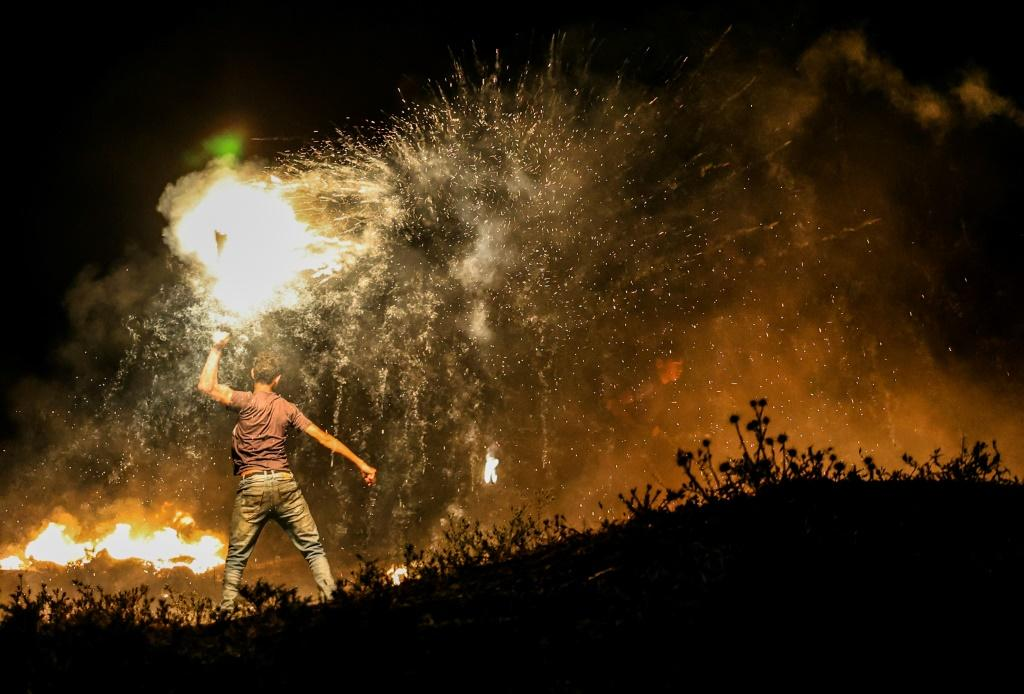 The demonstration triggered protests in the West Bank and Gaza Strip