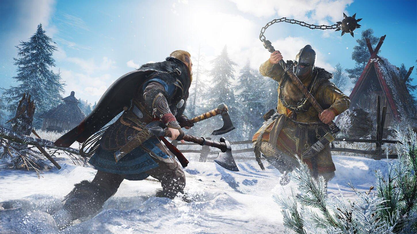 Assassin's Creed Valhalla lets players raid and pillage settlements as a Viking on the British Isles