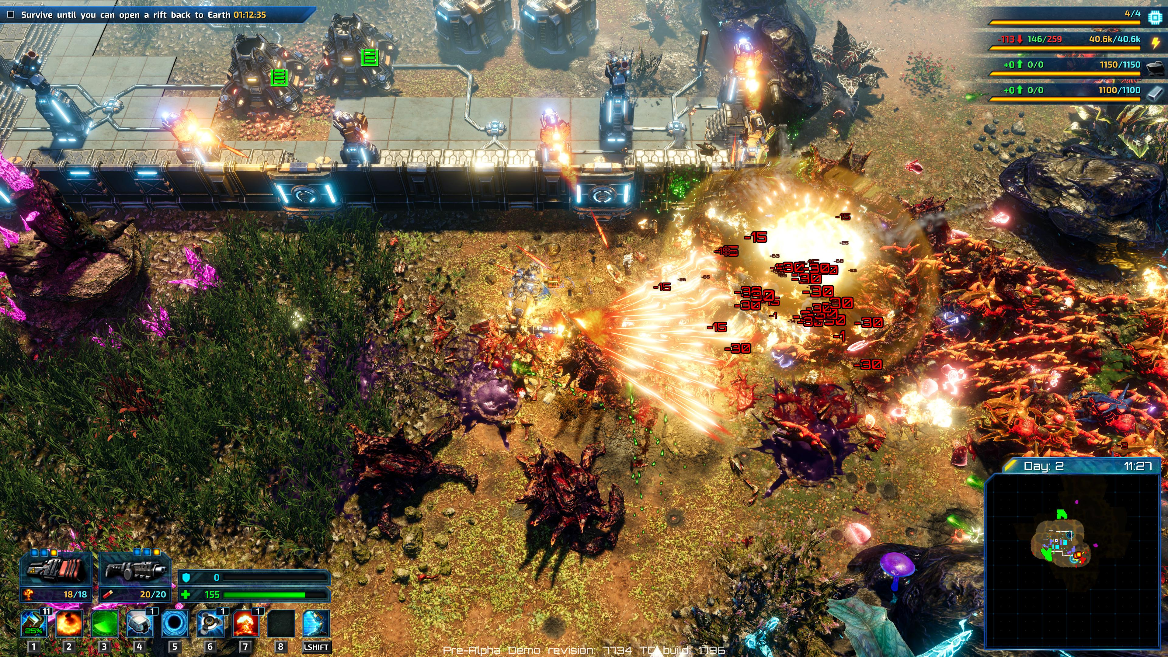 The Riftbreaker will have players defending against large swarms of hostile alien creatures