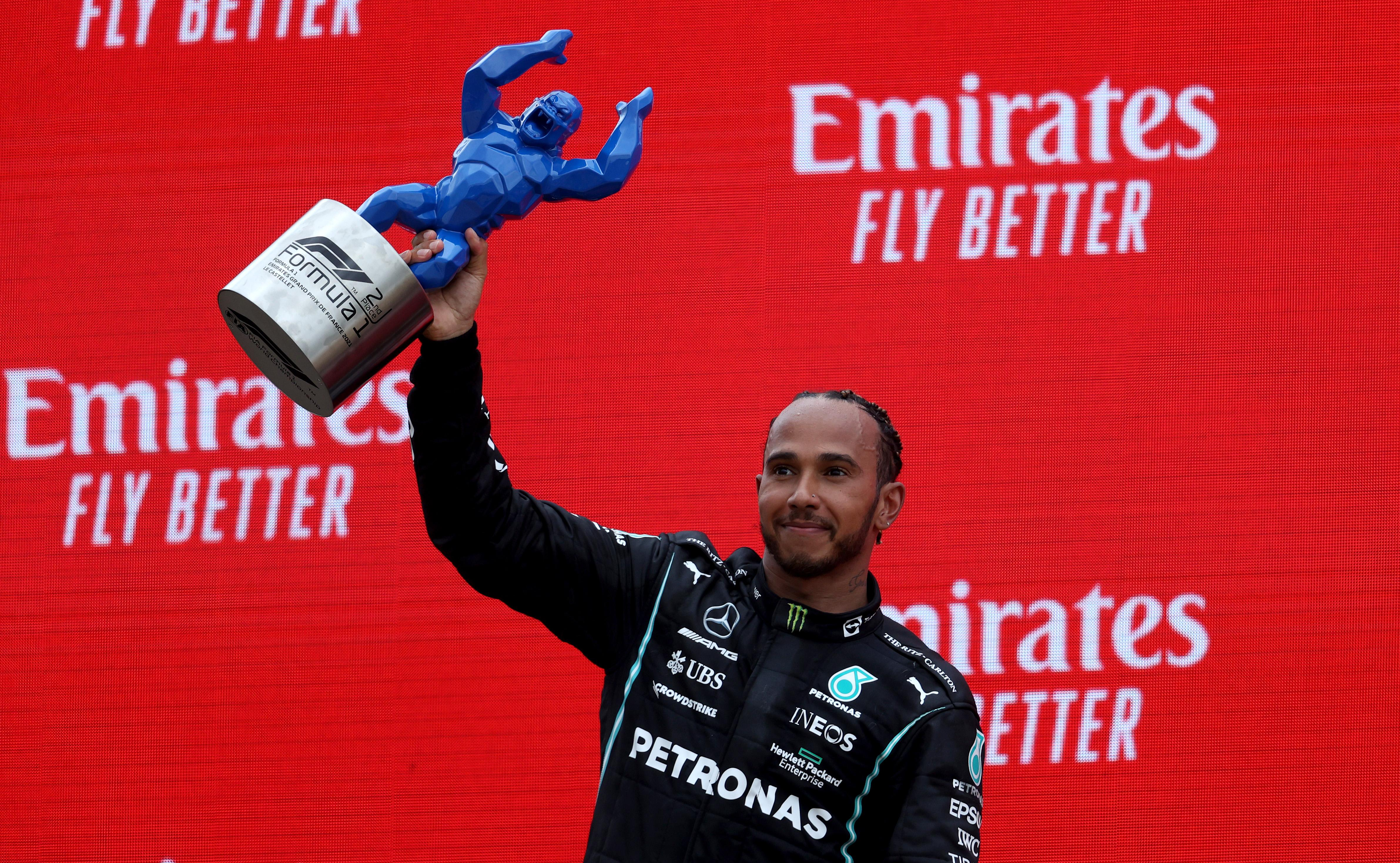 Lewis Hamilton places second in F1 Grand Prix of France