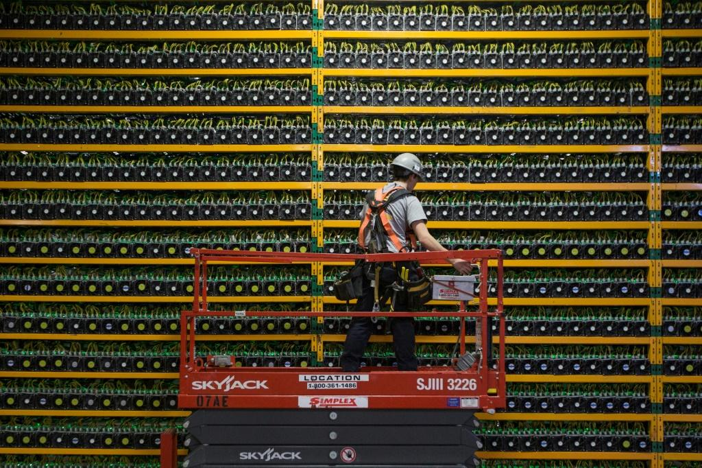 Crypto-mining requires huge amounts of processing power, as is seen at this bitcoin mining data centre in Canada