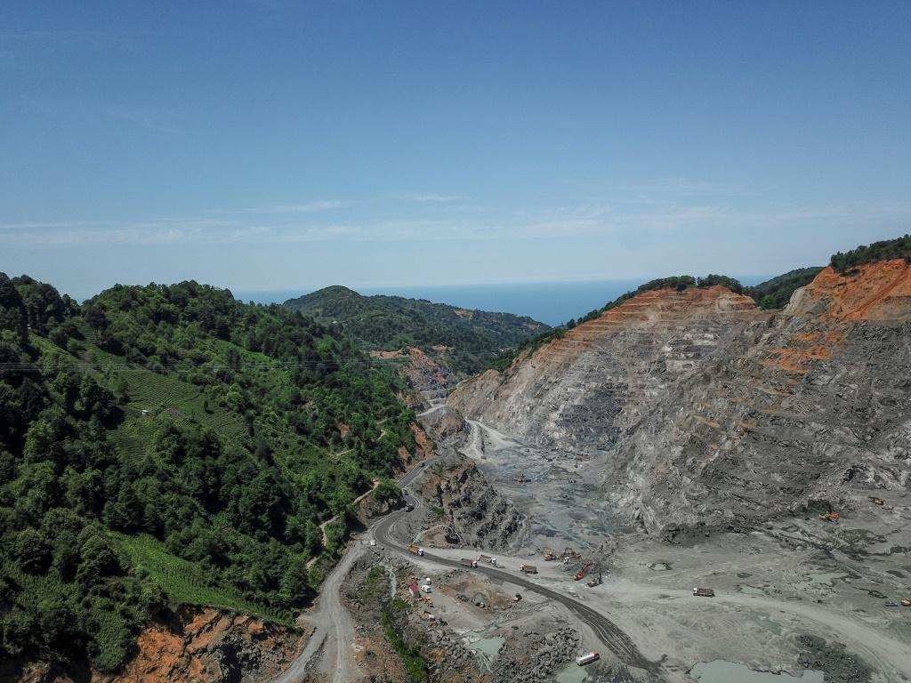 The Cengiz-operated quarry is close to the planned Iyidere logistics port, a key part of the government's development plan